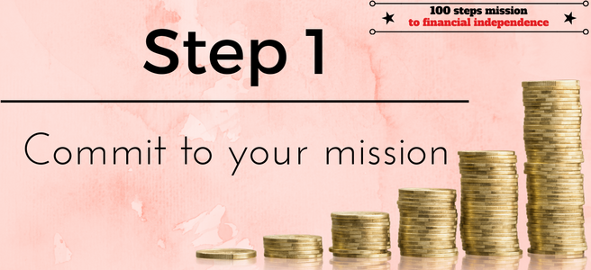 Step 1 of our 100 steps: commit to your mission