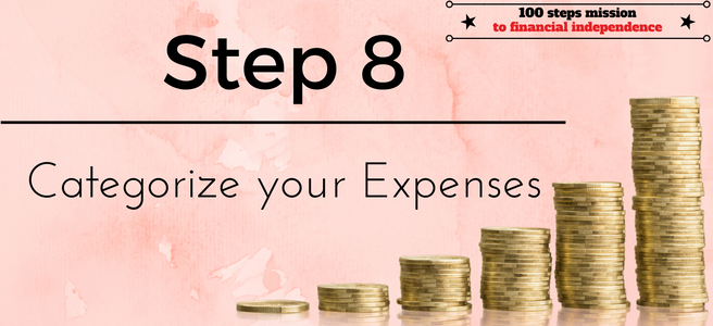 Step 8 of our 100 steps mission to financial independence: Categorize your Expenses