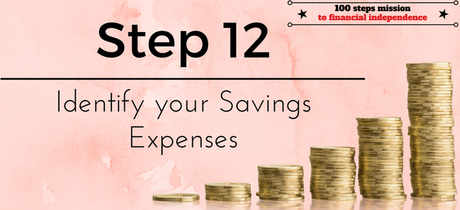 Step 12 of the 100 steps mission to financial independe: Identify your Savings Expenses