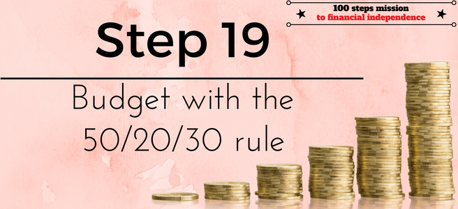 Step 19 of the 100 steps mission to financial independence: Budget with the 50/20/30 rule