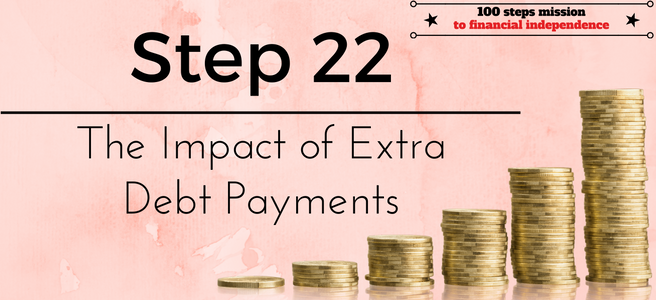 Step 22 of the 100 steps mission to financial independence: The Impact of Extra Debt Payments