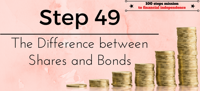 Step 49 of the 100 steps to Financial Independence: The Difference between Shares and Bonds