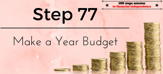 Step 77 of the 100 steps mission to financial independence: Make a Year Budget