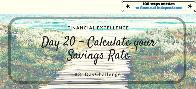 Day 20: Calculate your Savings Rate