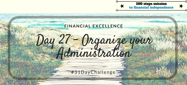 Day 27: Organize your Administration