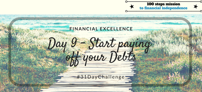 Day 9: Start paying off your Debts