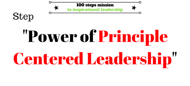 Principle Centred Leadership