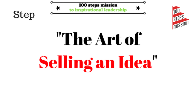 Art of selling an idea