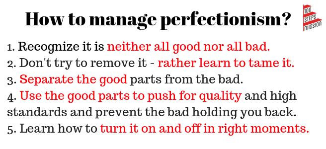 How to manage perfectionism