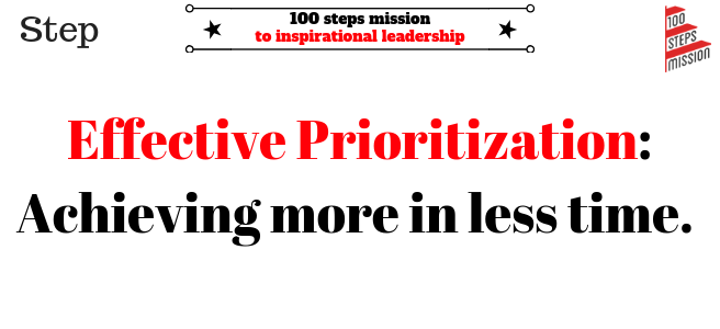 Effective prioritization